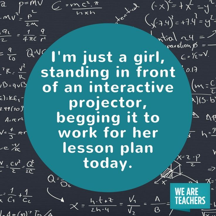 I'm Just a Girl, Standing in Front of an Interactive Projector