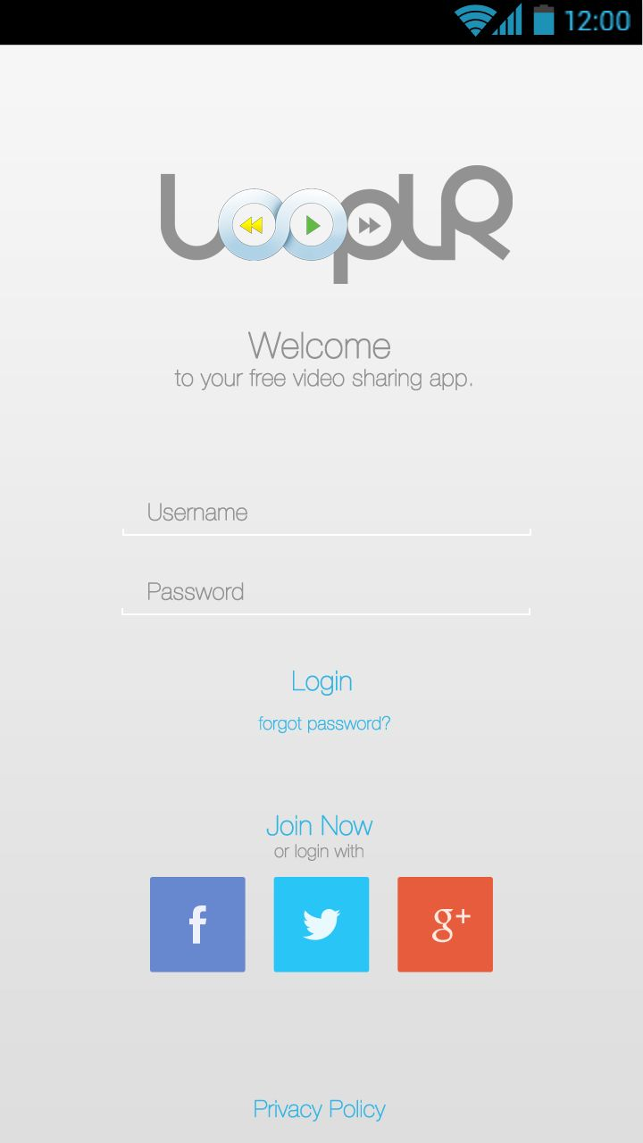 New Design LoopLR Login Page