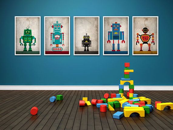 Robots Poster Set by JWCdesigns on Etsy, $29.00