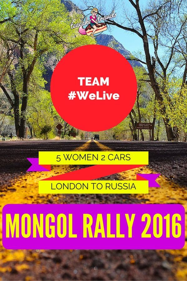 Team #WeLive Mongol Rally 2016! 5 women, 2 hatchbacks and 10,000 miles to get from London to Russia. Can they do it? Hell yeah! Support their efforts and follow their crazy journey.