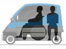 Ein griechisches Auto für Menschen mit Behinderung.