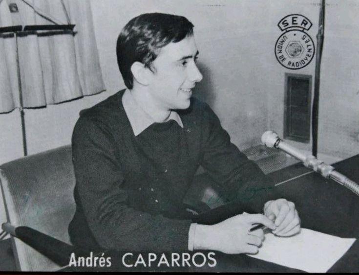 @RADIOESCUCHANTE Andrés Caparrós en la Cadena Ser. Fotografía