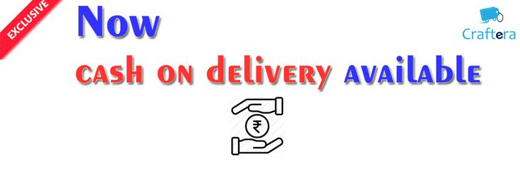 Cash on Delivery  https://www.craftera.in/%20Cash%20on%20Delivery  We are happy to inform you, we are starting Cash on Delivery service.