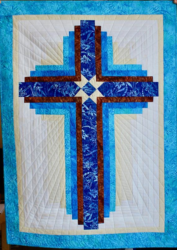 Log Cabin Cross – Guiding Star – wall hanging: 31 in. x 43 in.- PDF Download
