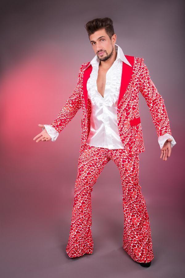Costume Anni ' 70anni ' 70 Anni Vestito Feste Loverboy Festa Completo Uomo in Abbigliamento e accessori, Carnevale e teatro, Costumi e travestimenti | eBay