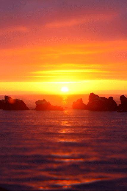 Bandon, United States - Beach at Sunset