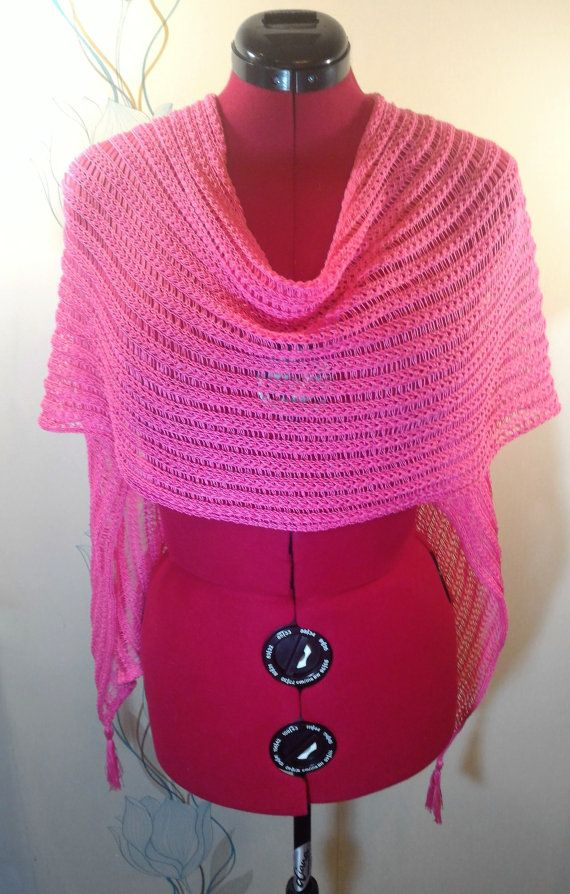 Knitted cape poncho transformer shawl scarf by LanaNere on Etsy