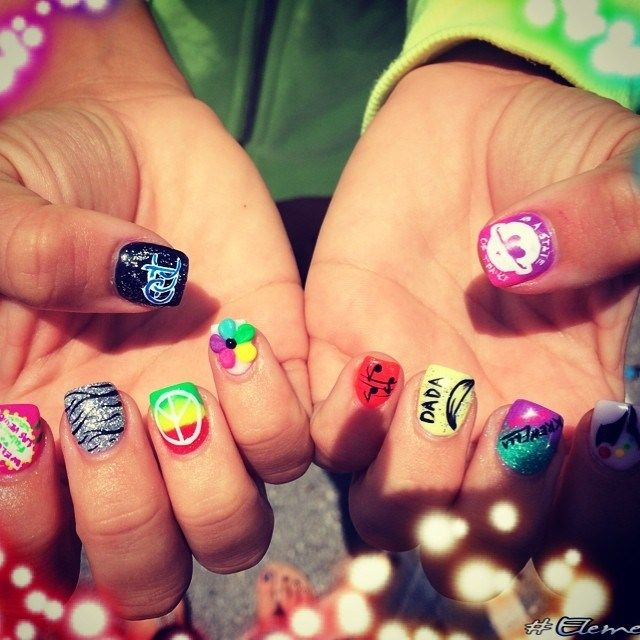 1000+ Images About Music Festival Nail Art On Pinterest
