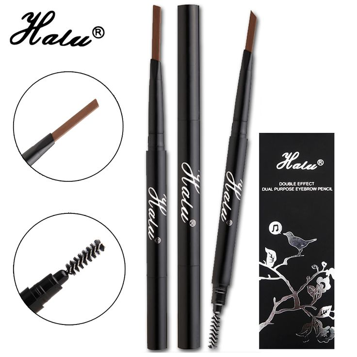 HaLu Brand 2016  Waterproof  Long-lasting  Makeup Automatic Eyebrow Pencil Cosmetics Beauty Tools 4 color Gift Eyebrow Stencils