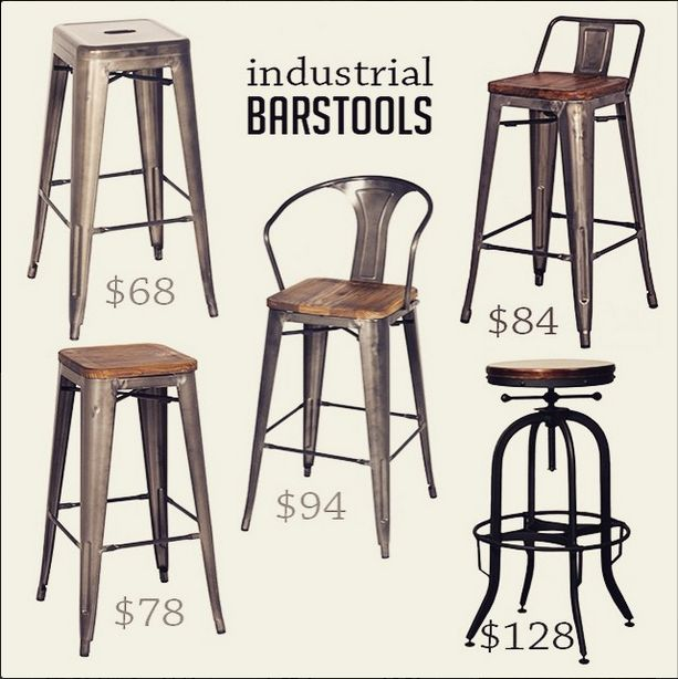More of our unique industrial barstools. #bottom right for craft room