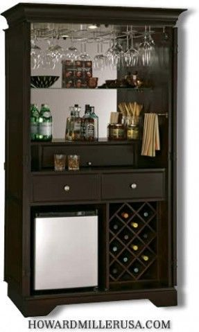 Wine Bar Cabinets with Refrigerator | 695104 Howard Miller win and bar cabinets
