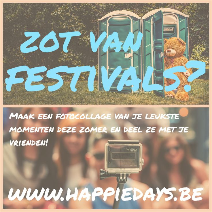 We <3 festivals! Maak een leuke herinnering voor jou en je vrienden op www.happiedays.be #festivals #festivalzomer #workhardplayharder #happiedayskrant