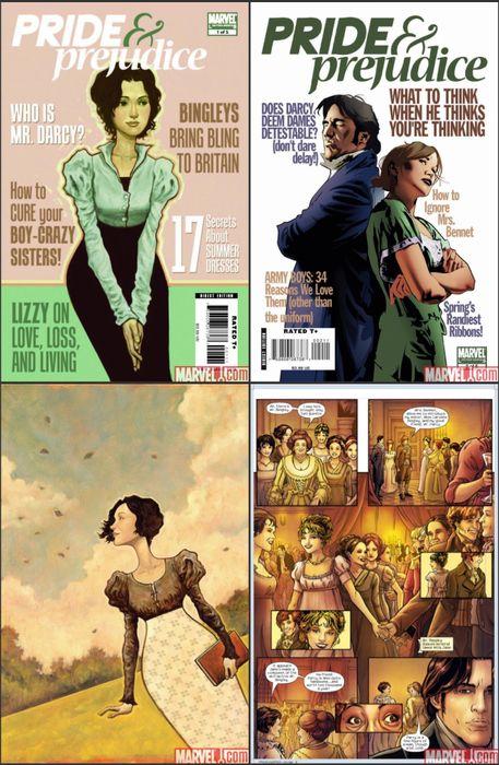 Pride and prejudice Marvel comic.