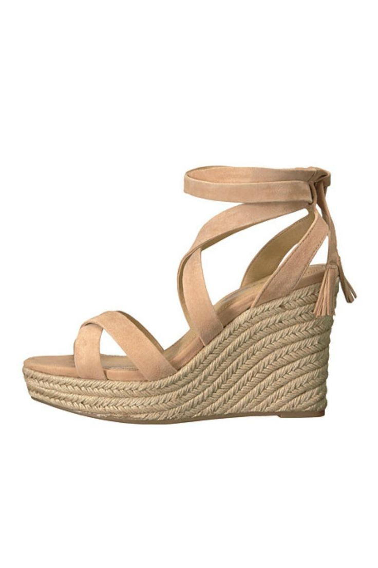 Dress up your summer with the sassy, strappy Janice espadrille wedge from Splendid Shoes! Featuring a cute tie-up ankle with fringe and a bright woven bottom, these are the perfect go-to shoe for the season.    Measurements: Heel Height: 4 in Weight: 13 oz. x Platform Height: 1 1/2 in   The Janice Wedge by Splendid. Shoes - Wedges Florida