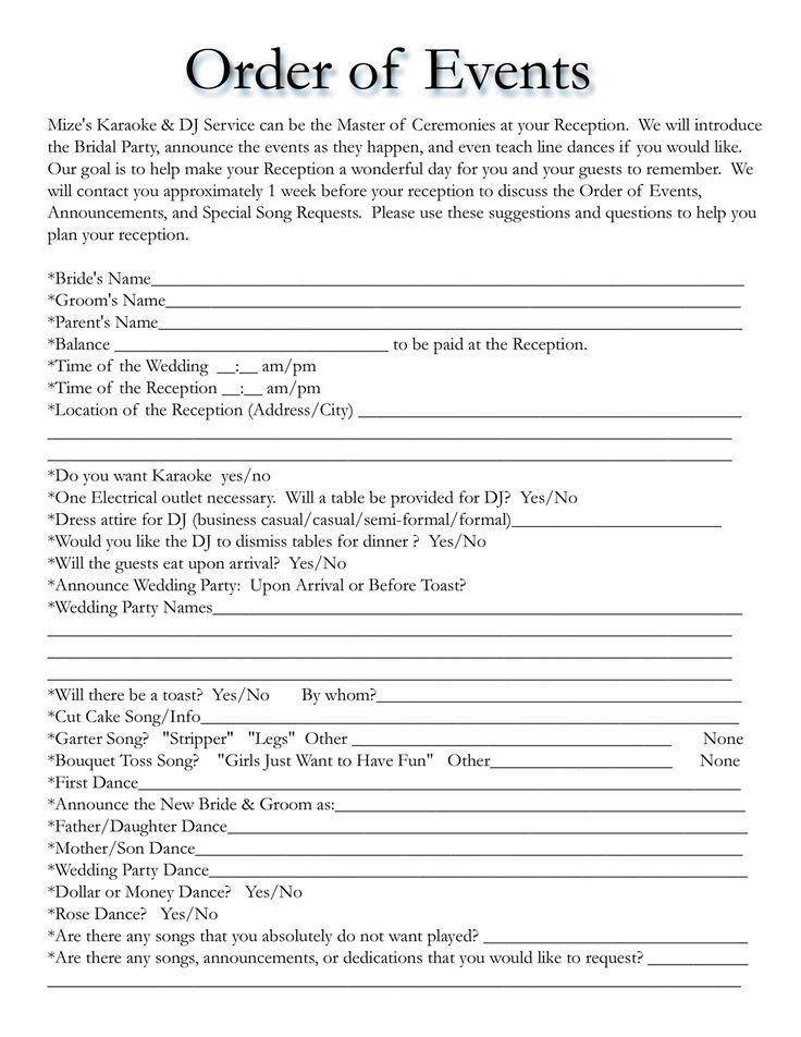 Best 25+ Wedding timeline template ideas on Pinterest | Wedding ...