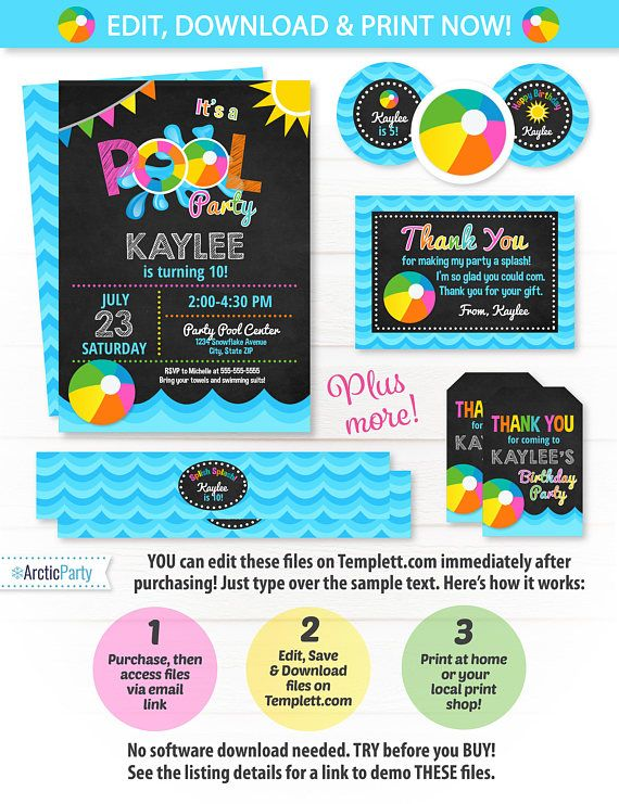 Best  Swim Party Invitations Ideas On   Beach Party