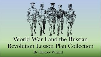The following 18 Individual webquests and worksheets are included in the History Wizard's World War I and Russian Revolution Collection:  Click on each link to learn about the individual World War I lesson plan.   World War I Webquests World War I and the United States Webquest World War I Interactive Timeline Webquest World War I Propaganda Posters Webquest World War I Video Webquest  World War I Worksheets The Assassination of Archduke Ferdinand Beginning of Air Warfare 1914 World War I…