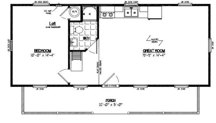 18 39 by 15 39 cabin floor plans google search addition for Cabin addition floor plans
