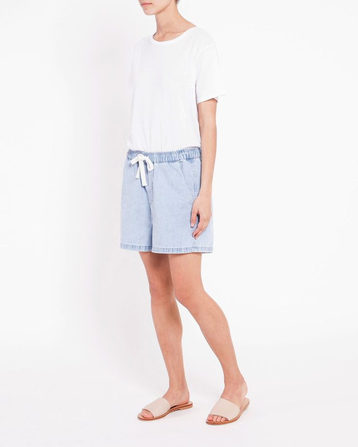 Assembly Label - The Base Denim Short
