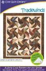 Trade Winds Tradewinds Quilt Pattern, Jelly Roll 2.5 Inch Strip Friendly,