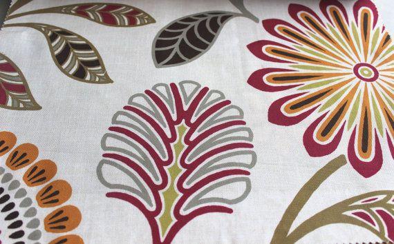 Tangerine Eleta Mela Fabric By The Yard Curtain by FabricMart