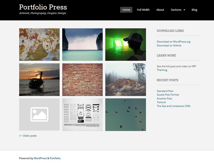 47 best free wordpress themes images on pinterest free portfolio
