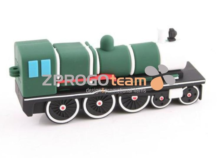 NEW: Promotional USB flash drive in design locomotive.