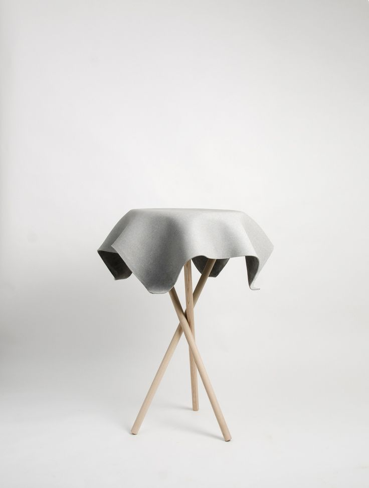 Low cement garden side table HOCUSPOCUS by SWISSPEARL Italia