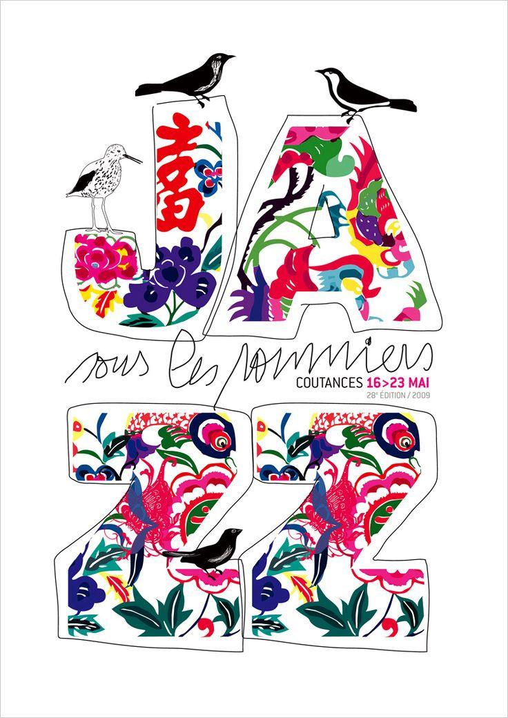 le jardin graphique, visuel Jazz sous les pommiers 2009