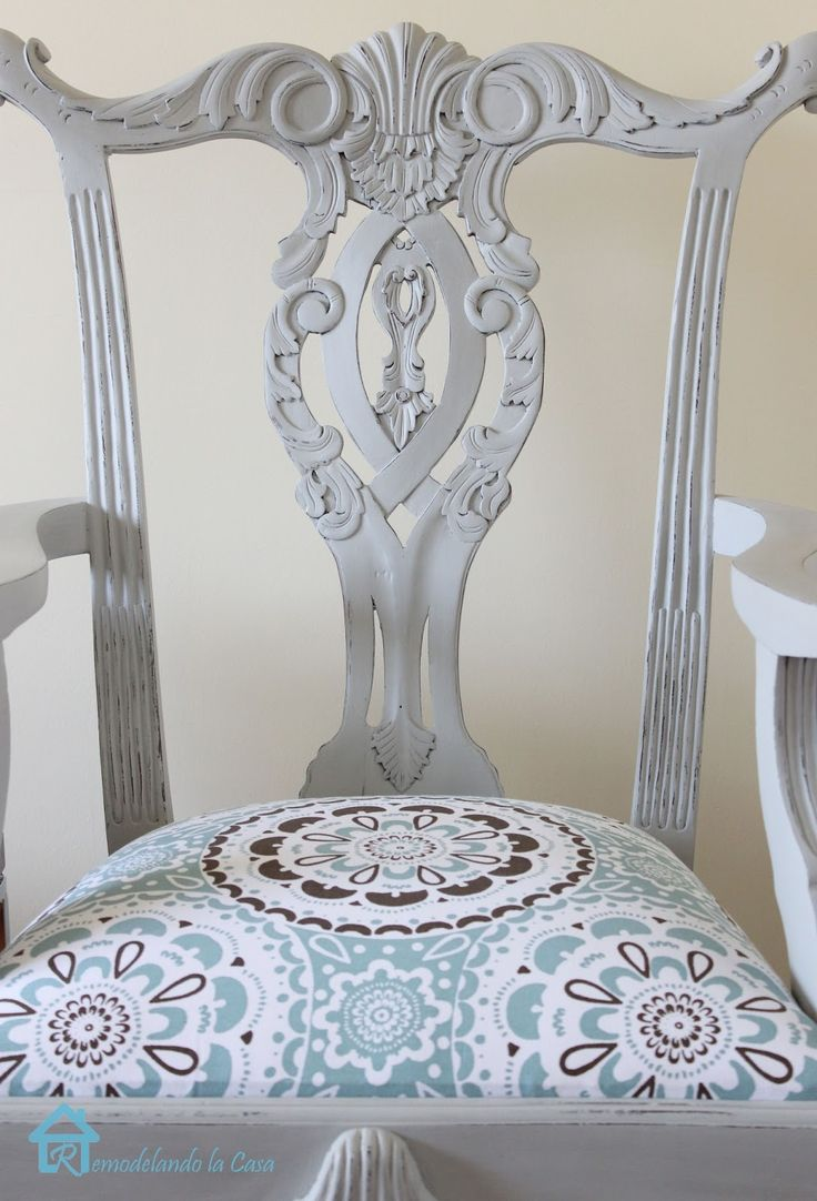 Paris Grey -Annie Sloan Chalk Paint - Chippendale Chair transformed