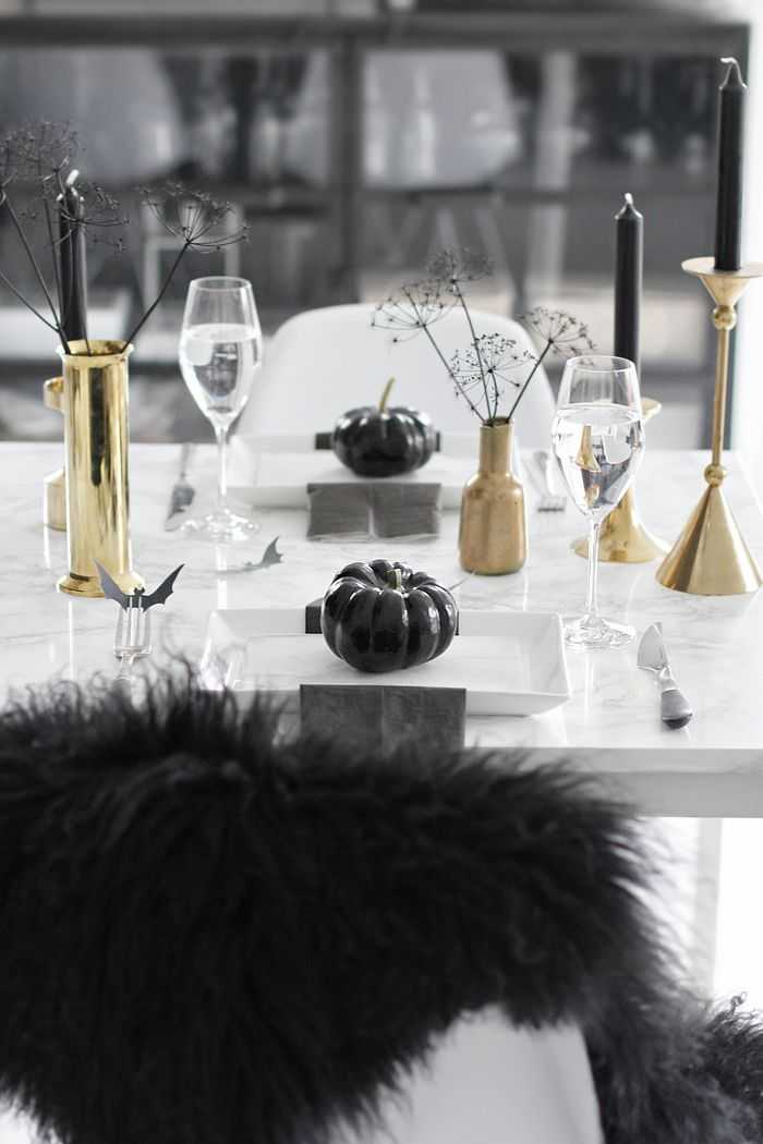 Halloween table setting