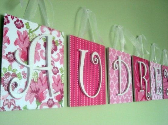 Use scrapbook paper, canvas, and letters.. simple and pretty! #DIY #crafts
