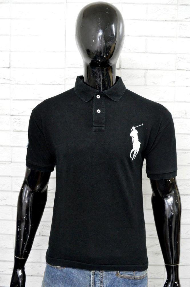62f324f21d Polo RALPH LAUREN Uomo Taglia XL Maglia Nera Manica Corta Shirt Man ...