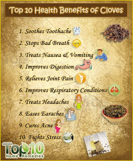 Do check these Top 10 Health Benefits of Cloves. The health benefits of cloves as well as clove oil can be attributed to their antioxidant, antifungal, antibacterial, aphrodisiac, antiviral, antiseptic, anti-inflammatory and analgesic properties. #cloves #health