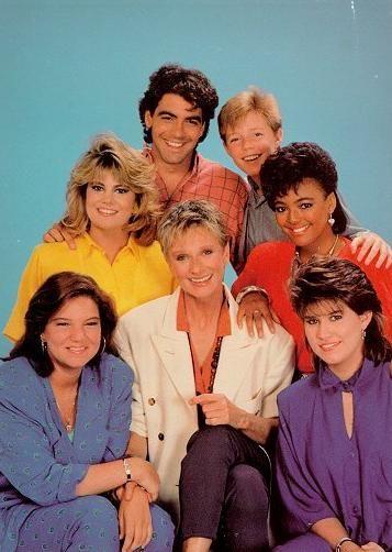 The Facts of Life - Mindy Kohn, Nancy McKeon, Cloris Leachman, Lisa Whelchel, Kim Fields, George Clooney, Mackenzie Astin