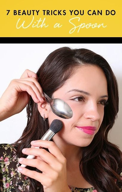 7 Beauty Tricks You Can Do With A Spoon  http://thepageantplanet.com/category/hair-and-makeup/