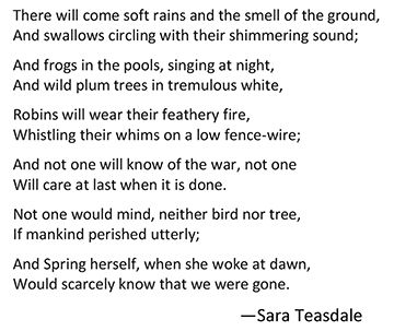 Spring Rain - Poem by Sara Teasdale