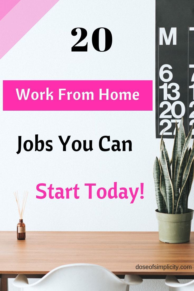 20 Work From Home Jobs A List Of 20 Work From Home Jobs You Can Start Today Work From