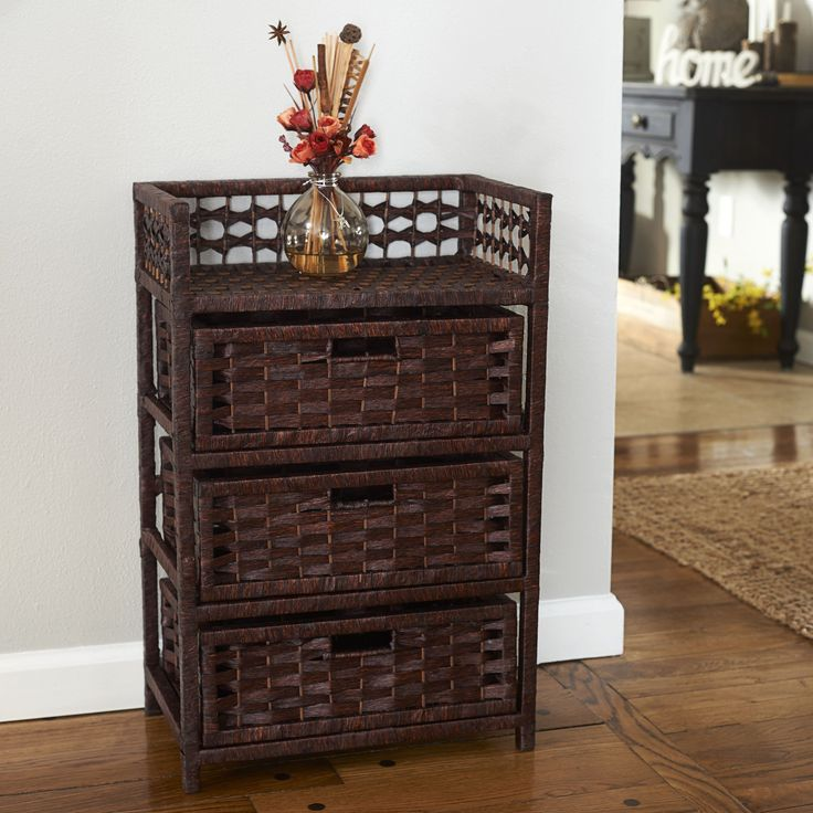 Lovely Wicker Chest Of Drawers Ikea