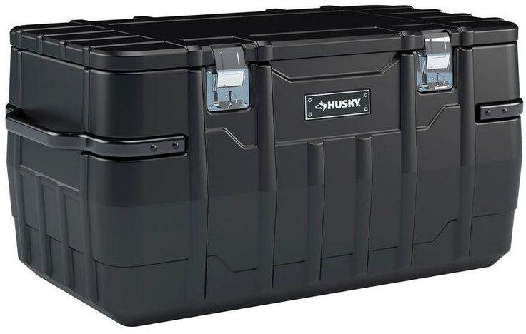 Husky 100 Gallon 48 In. Portable Water Resitant Tool Truck Storage Job Box #Husky