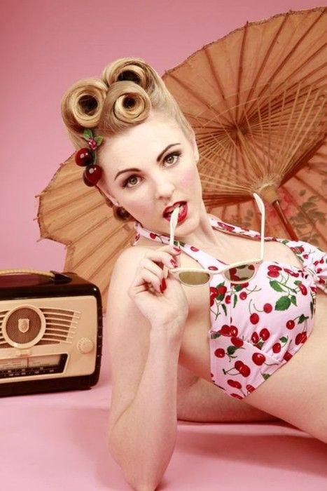 Victory roll inspiration  Hair and Makeup Natasha Hall @   Pretty Me Vintage