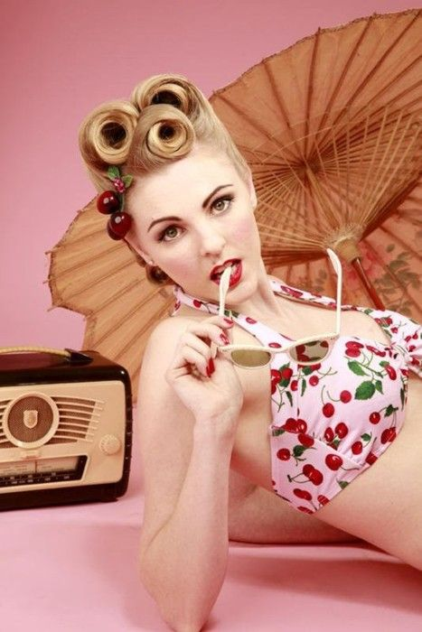 Strange 1000 Images About Rockabilly Amp Pin Up Hair And Makeup On Pinterest Short Hairstyles Gunalazisus