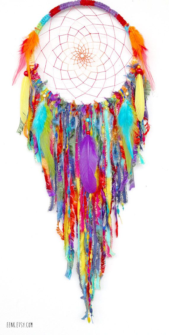 Dream Catcher- Gypsy Soul Large Native Style Woven Dreamcatcher by eenk on Etsy