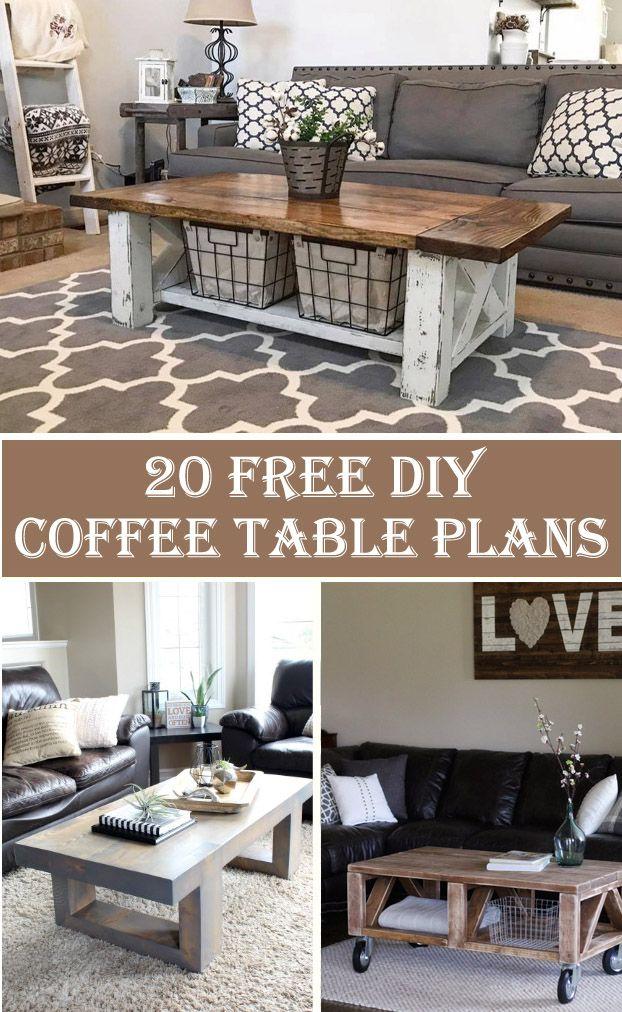 20 Free DIY Coffee Table Plans