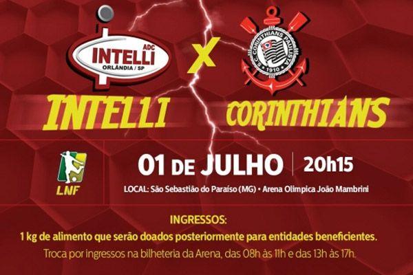 Ingressos para clássico entre Intelli e Corinthians começam a ser trocados