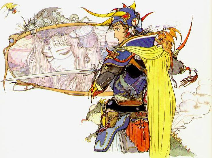 The Beautiful Final Fantasy Art of Yoshitaka Amano #illustration #game
