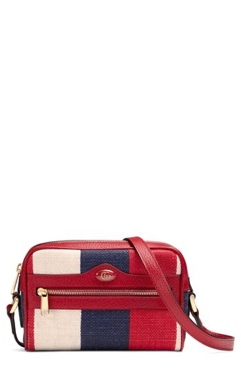 8205e4dc116b Gucci Ophidia Washed Cotton Stripe Mini Bag | On-Trend Shoulder Bags ...