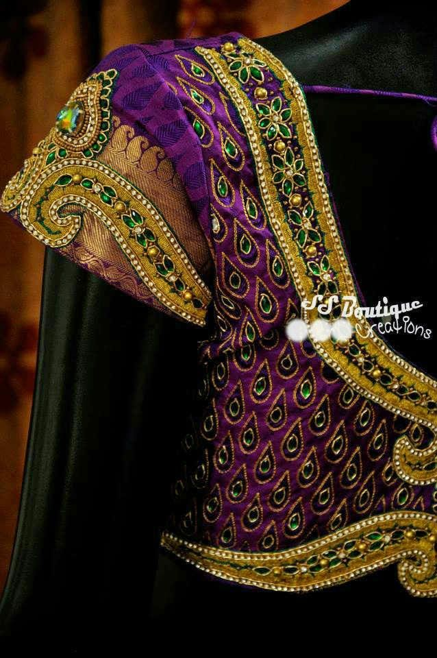 maggam work wedding blouse