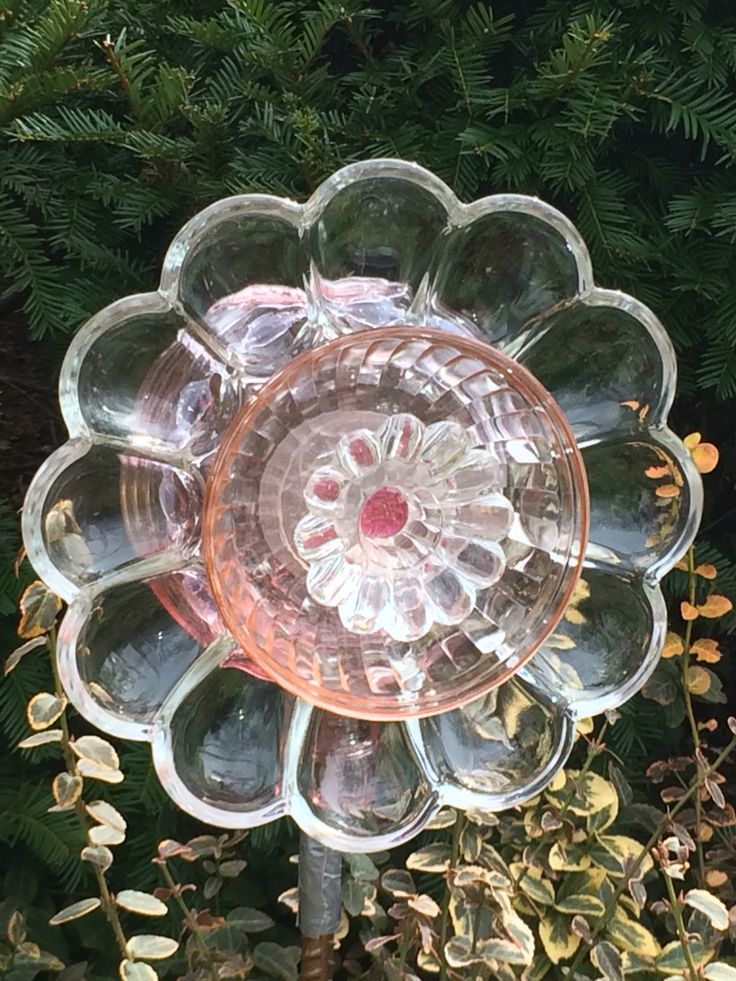 566 best images about reclaimed glass on pinterest bird for Recycled glass flowers