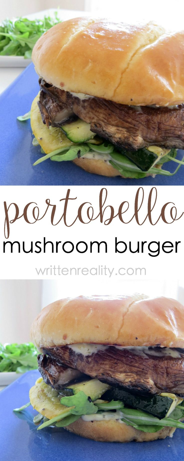 Grilled vegetable recipes: Here's a delicious Portobello mushroom burger that even a meat lover would devour. It's filled with grilled vegetables and a pesto sandwich spread.